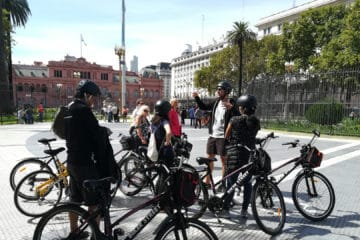 BA South Bike Tour First Stop at Plaza de Mayo