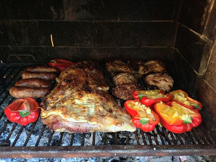 Tasty Argentine Meat in Traditional Family Asado