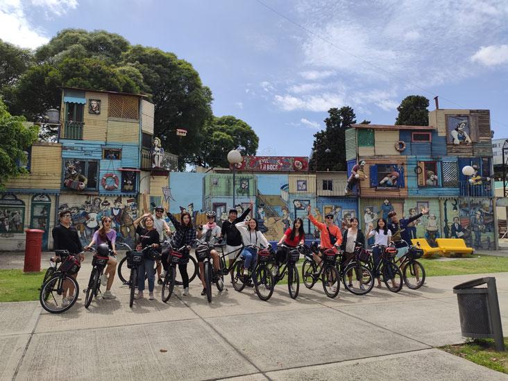 La Boca Mural in front of Parque Lezama
