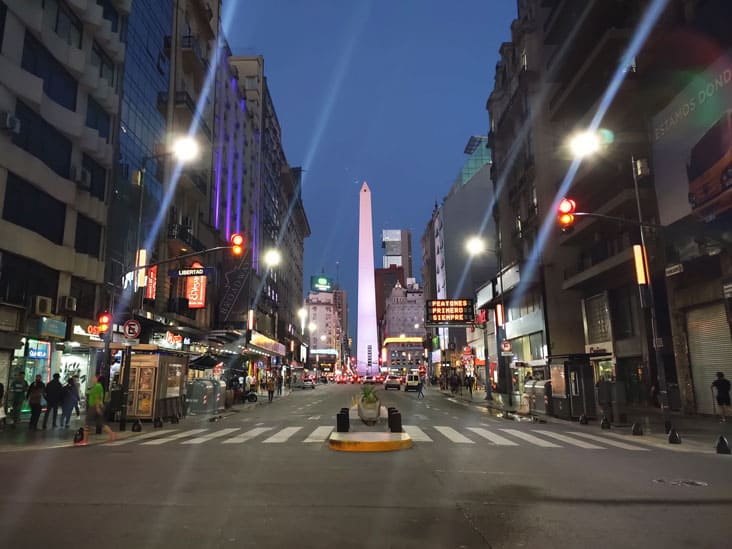 Corrientes Av The street in Buenos Aires that never sleeps