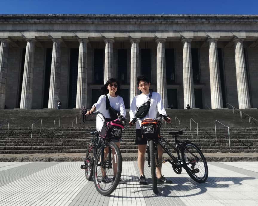 Bike tours in Buenos Aires recoleta law university