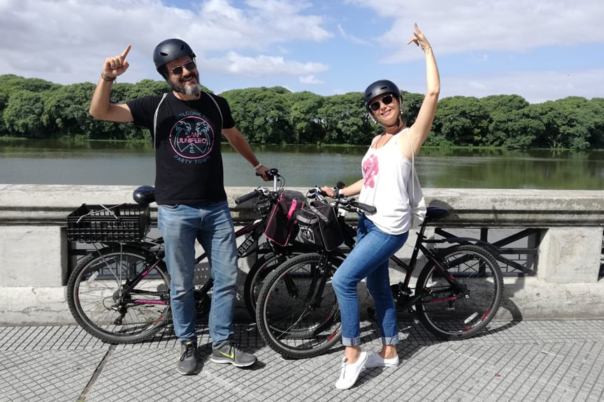 City Tour by bike in Costanera Sur Puerto Madero