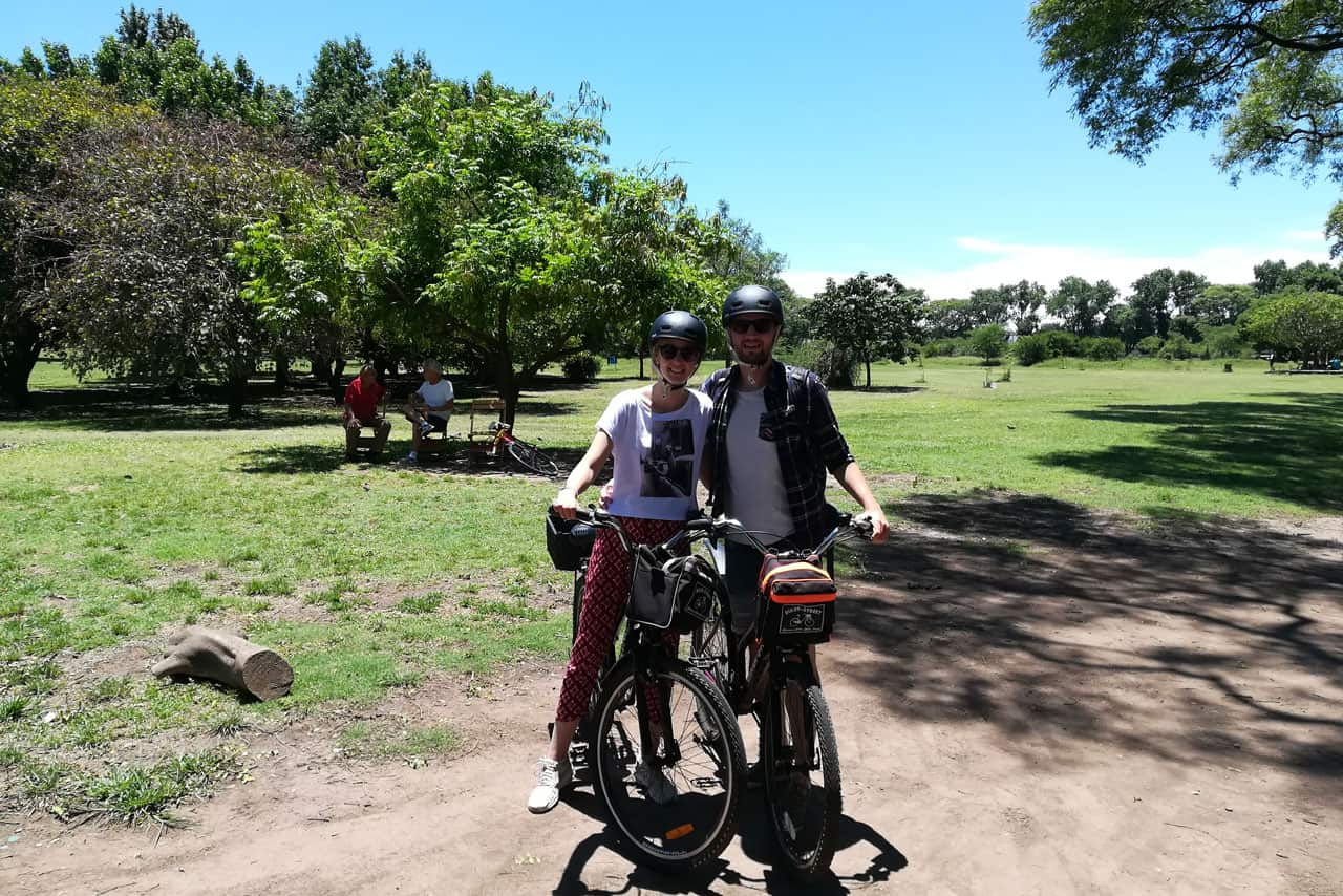 Enjoying the good weather to ride around Bosques de Palermo