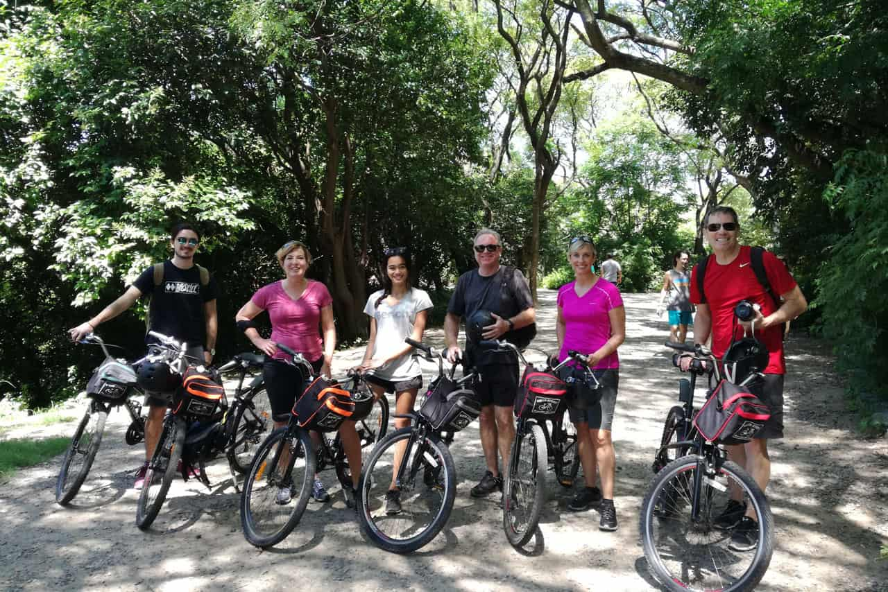 Stop at Reserva Ecologica on a Private Family Bike Tour