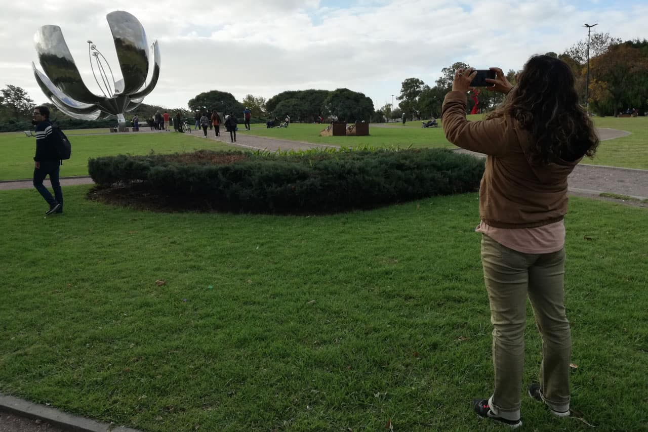 City tour by bike in Buenos Aires Floralis Generica