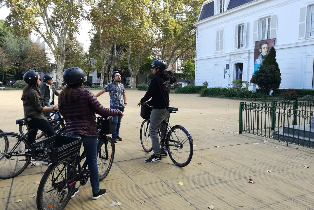 City tour by bike Palermo Chico area Embassy area