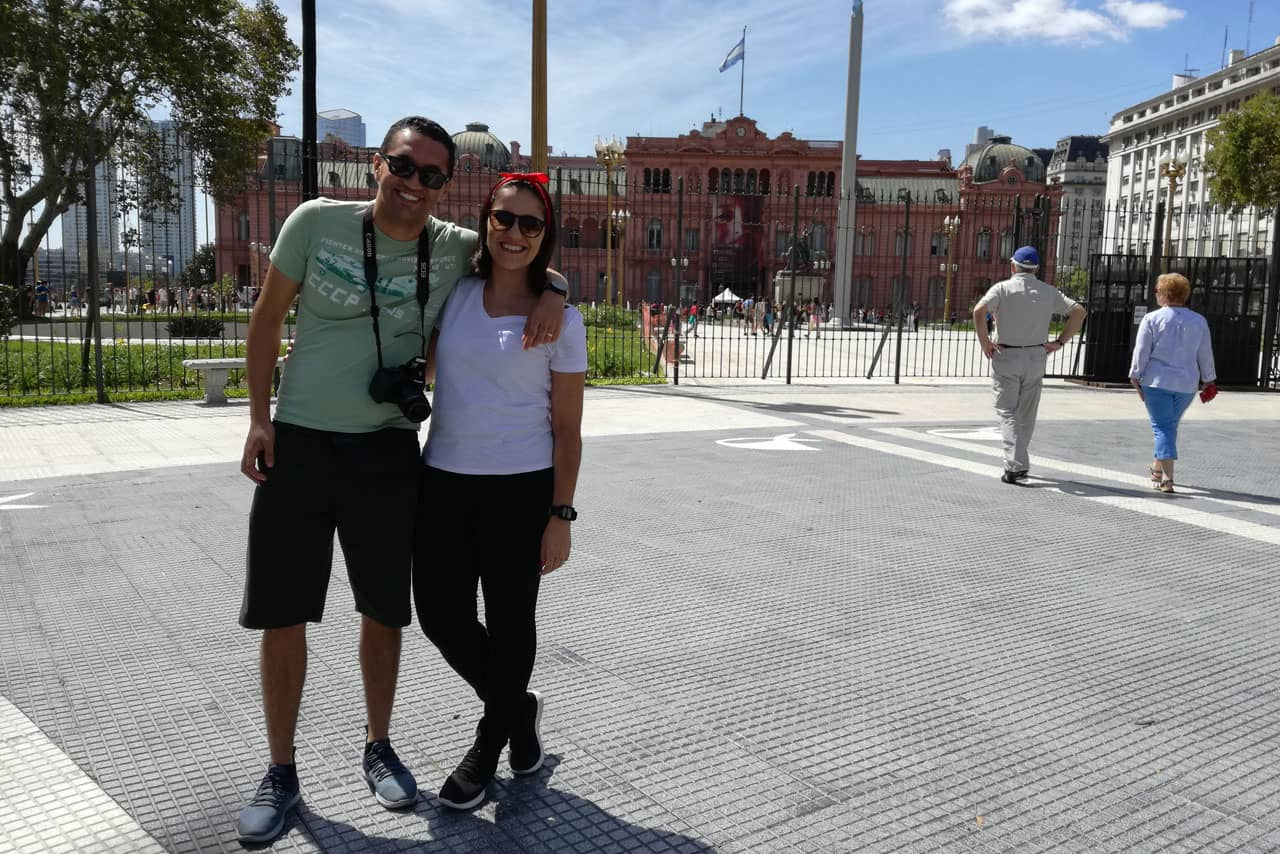 Visiting old Plaza de Mayo
