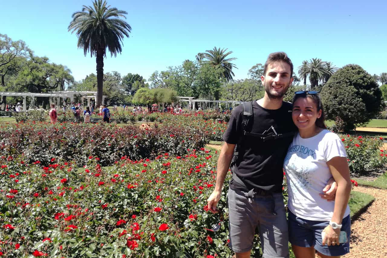 Biking tour ba bosques de Palermo rose garden stop