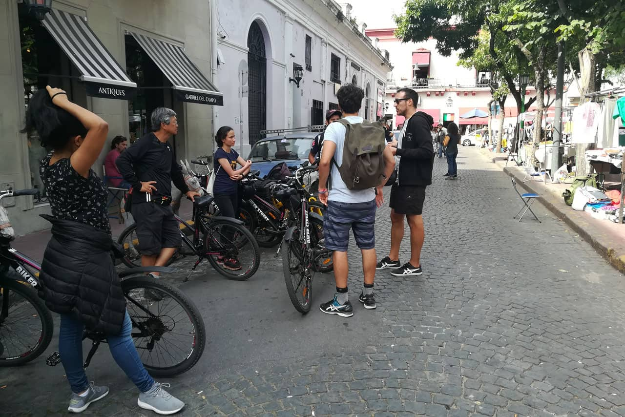 Learning about old San Telmo on a Bike Tour in Buenos Aires