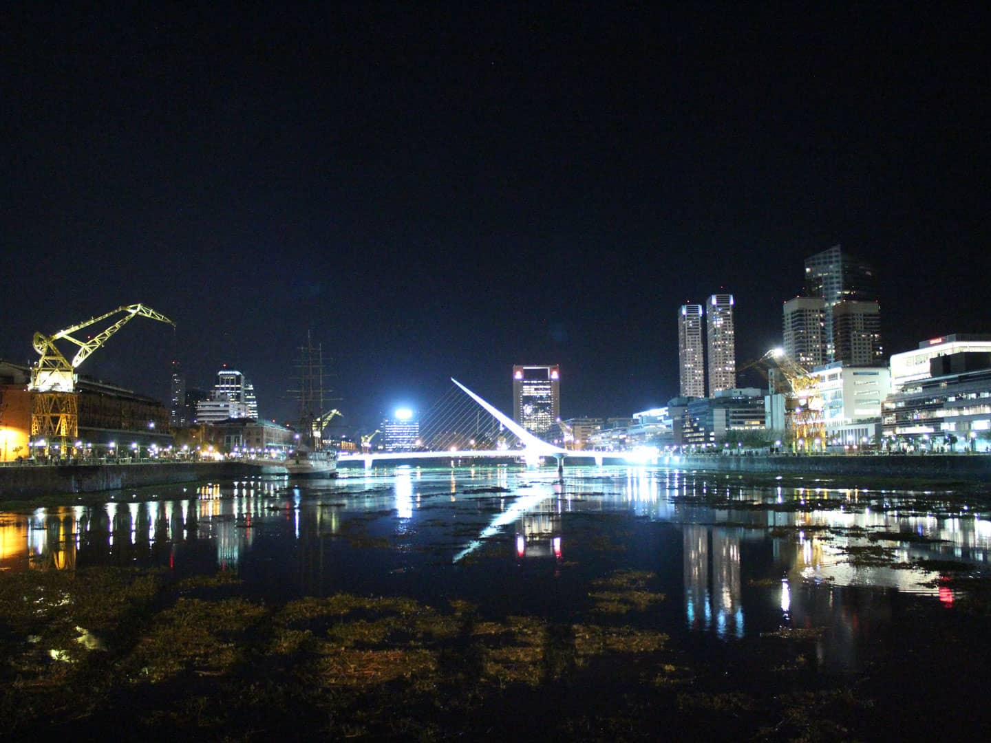 Puerto Madero night view