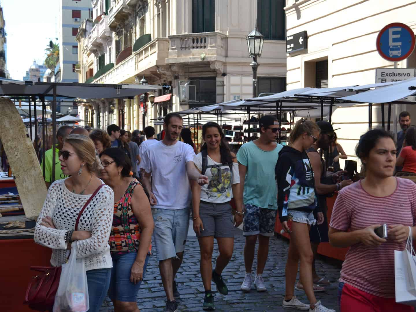 San Telmo Street Market. Every Sunday on Defensa Street