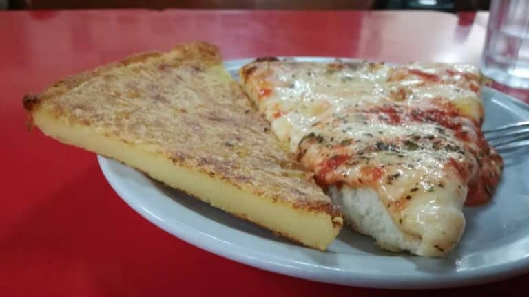 Traditional Muza Pizza Slice with Faina Slice