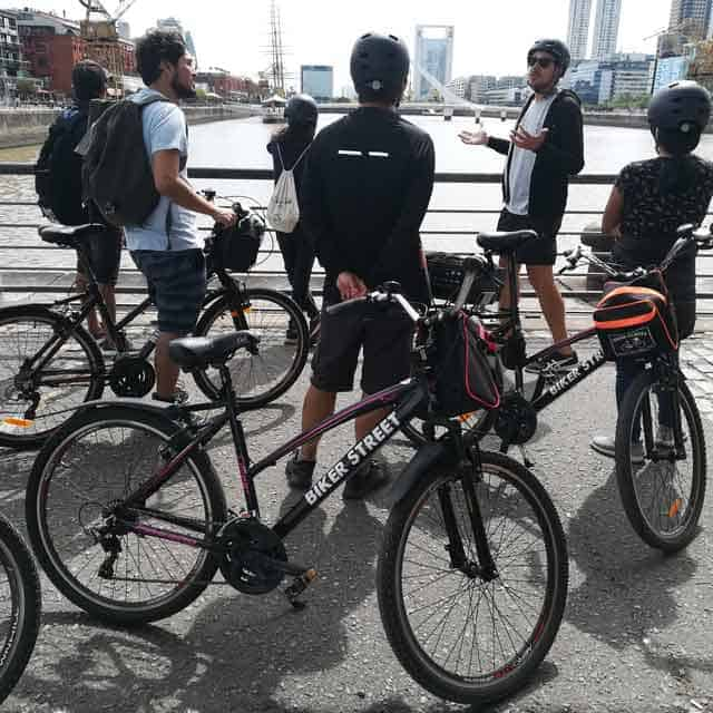 Bike Tour Group at Puerto Madero