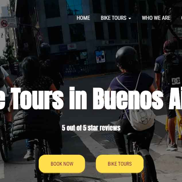 bike tour company in buenos aires with new website
