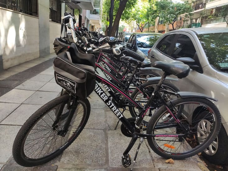 Bikes ready for Bike Tour in Buenos Aires