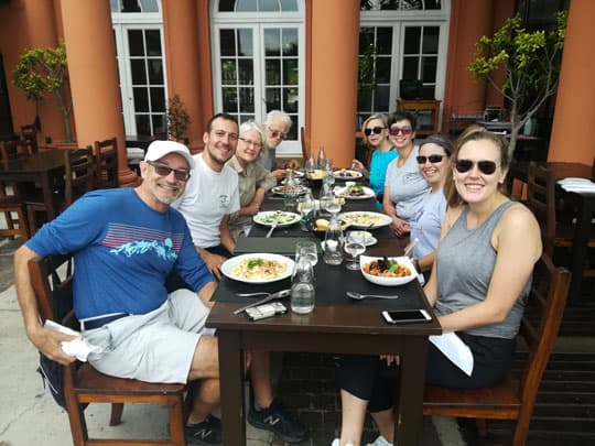 Lunch stop at a restaurant in Tigre city