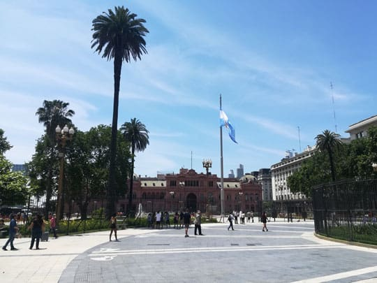 plaza de mayo is the city center in buenos aires