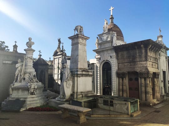 Recoleta cemetery a long stop in our bike tours
