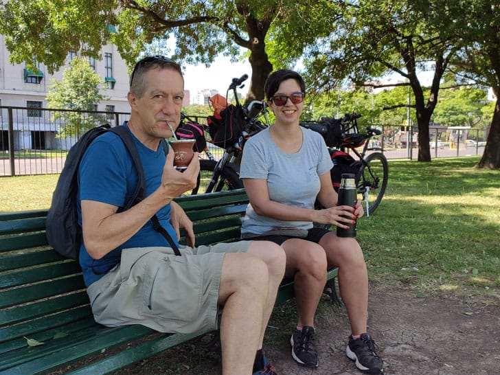 Traditional mate drink experience in a bike tour