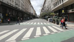 El Paraiso del Dolar Blue en el centro de Buenos Aires