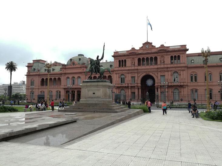 Plaza de Mayo, en el centro de Buenos Aires
